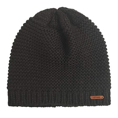 LETHMIK Winter Skull Waffle Beanie,Skully Cap Warm Mens&Womens Ski Cap Snow Hat Knitted
