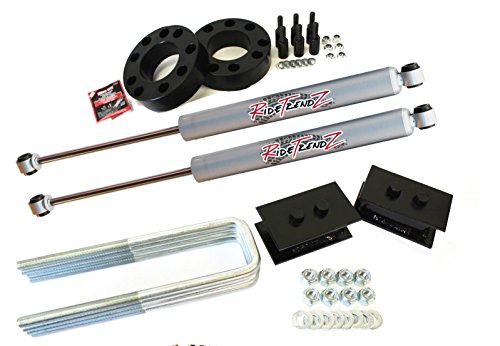 Rtz Ford F150 Full Lift Kit Front 3 Strut Spacers Rear 2 Tapered Steel Blocks Rtz Primo Nitrogen Gas Shocks 2wd Bk