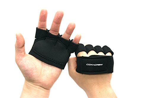 Regatta Four Light (Coxncrew Four Finger High Cushioning Light Anti-Slip and Protect Hands Workout Gloves for Rowing, Weightlifting, Body Building, Gym Exercising)