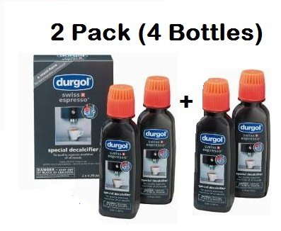 Durgol Swiss Espresso Machine Decalcifier Solution, 4 Count