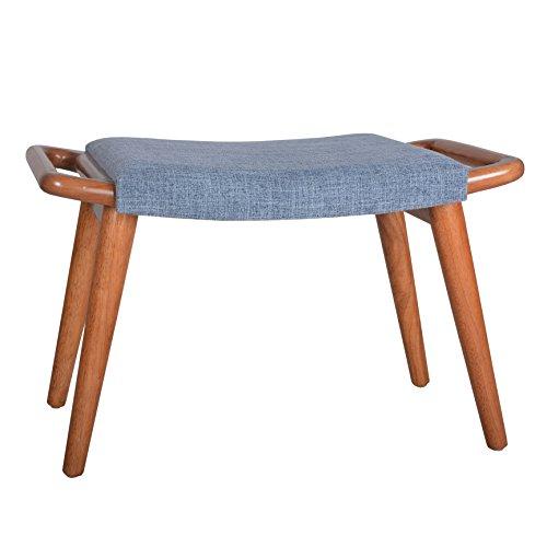Porthos Home Kai Vanity Bench, Blue (Vanity Bench Wood)