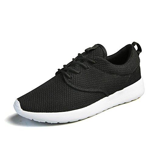 Norulb Chaussures de Running pour Homme Noir Noir/Blanc Noir/Blanc