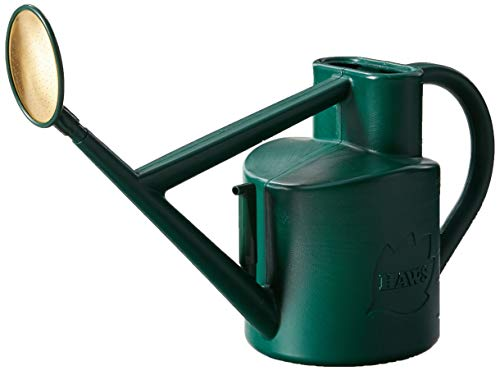Haws Plastic Outdoor Watering Can, 1.6-Gallon/6-Liter, Green ()