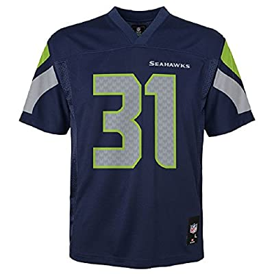 OuterStuff Kam Chancellor Seattle Seahawks NFL Kids Navy Home Mid-Tier Jersey