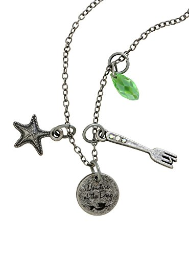 The Little Mermaid Disney Ariel Wonders of The Deep Multi Charm Necklace