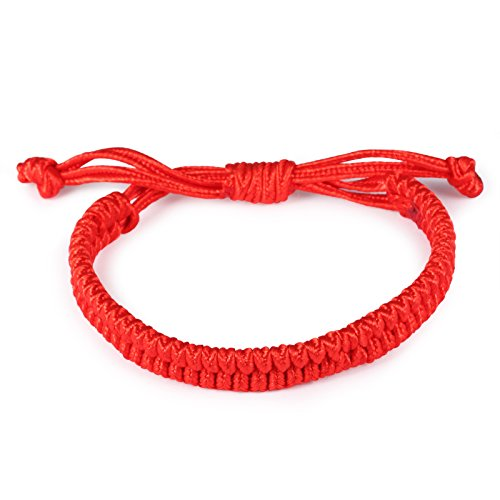 Fate Love Asian Vintage Style Handmade Weaved Bracelet Lucky Red Rope Chain String Wristband Bracelet