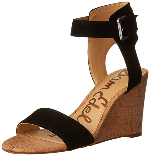 Sam Edelman Women's Willow, Black Suede, 10 M US Edelman Suede Wedges