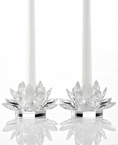 Glass Flower Candle Holder - Godinger Crystal Lotus 5