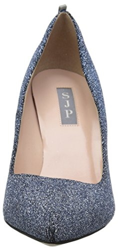 metallic By Parker Pumps Closed Jessica Fabric Blue Timmons Women''s toe Sarah Sjp qvSUw