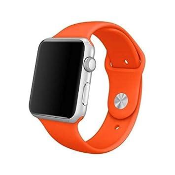 3339435b183 Pulseira Sport em Silicone para relógio Apple Watch 42mm Series 3 2 1  (Laranja 42mm