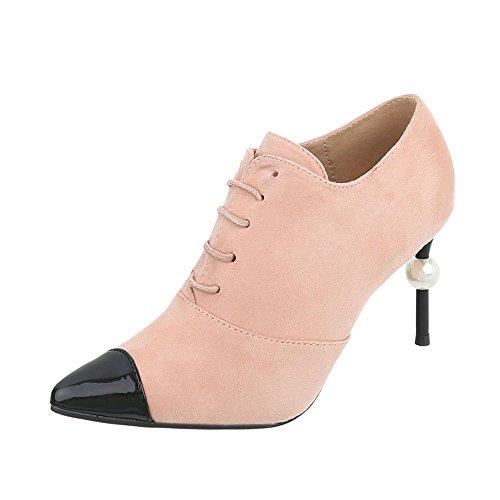 Zapatos Tacón tobillo de aguja Botines 19 al tobillo Tacón para Botas Rosa G Ital fee8fc