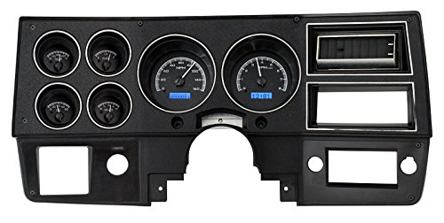 Dakota Digital 73 - 87 Chevy GMC Pickup Truck VHX Analog Dash Gauges Black Alloy Blue VHX-73C-PU-K-B - Dakota Digital Auto