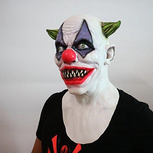 Maschera da Clown Pazzo Clown Horror - Perfetta per Carnevale ... 3fad4d108f4f