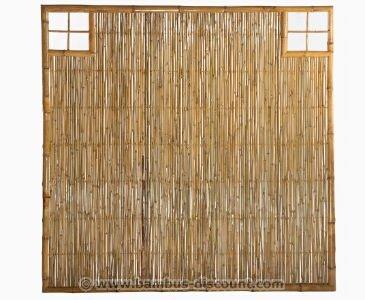 Bambus Wand Ten Mit Gitter Ausschnitt Oben Rechts Und Links 180 X