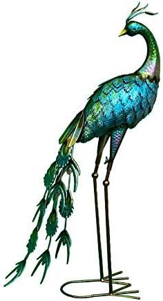 LeCrown Standing Peacock Garden Decoration Statue