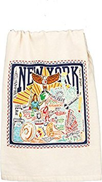 Primitives by Kathy New York State Map Dish Towel