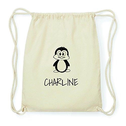 JOllipets CHARLINE Hipster Turnbeutel Tasche Rucksack aus Baumwolle Design: Pinguin