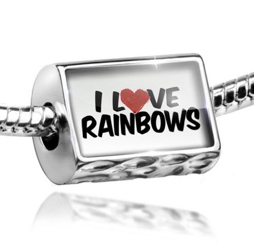 Charm I Love Rainbows - Bead Fit All European Bracelets , Neonblond