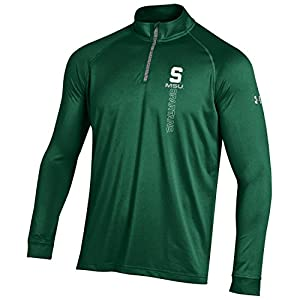 NCAA Michigan State Spartans Boy's Tech Quarter Zip Tee, Green, Small
