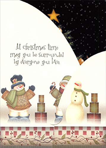 Surrounded by Everyone You Love : Angela Anderson Tri-Fold Panorama LPG Greetings Christmas Card