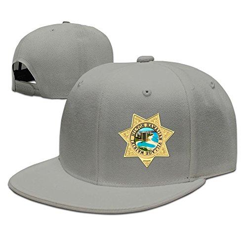 Casual Men Women Hilton Hawaiian Village Waikiki Beach Flat Ajustable Snapback Cap Hat Ash
