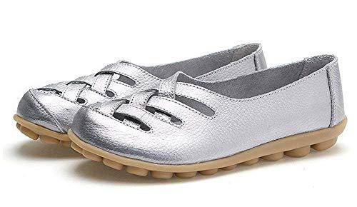 Basses Flats Fangsto Fangsto Femme Basses Silver Flats Silver Femme OwSBR