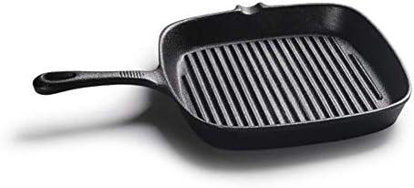 LNDDP Poêle à Frire antiadhésive, casseroles faciles à Nettoyer Marmite en Fonte carrée à Steak en Fonte, Marmite antiadhésive, Multi-usages, Crêpes, Barbecue