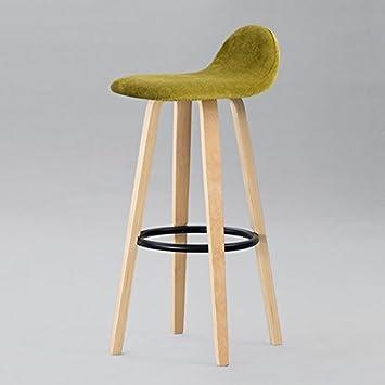 cgn tabouret en bois massif chaise de restaurant de barre rtro haut tabouret en bois - Chaise Coloree