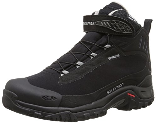 Salomon Women's Deemax 3 Ts Wp W Snow Boot, Black/Black/Aluminium, 10 M US
