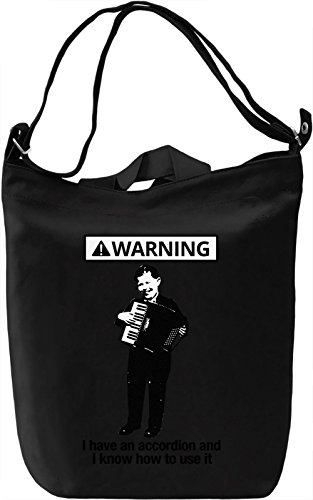 Warning Borsa Giornaliera Canvas Canvas Day Bag| 100% Premium Cotton Canvas| DTG Printing|