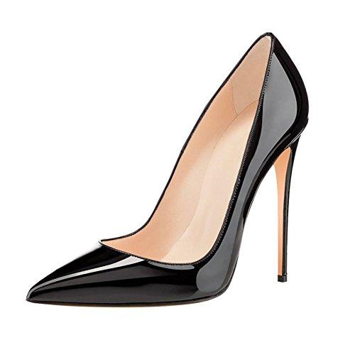 Alto Edefs 12 Tacón Zapatos Para Negro Cm Mujer De zapatos ZrYgZ