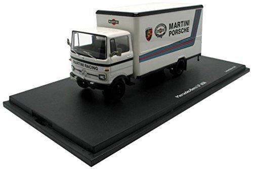 Schuco 1:43 Mercedes - Benx Lp 608 Support Truck for Martini Porsche Race Team [並行輸入品] B015VU682M
