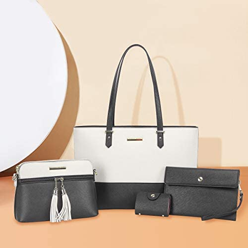 CHANRS KEATN Handbags for Women Fashion Tote Shoulder Bags Top Satchel Purses 4pcs Handbag Set