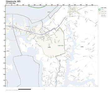 Amazoncom ZIP Code Wall Map of Grasonville MD ZIP Code Map