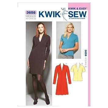 Kwik Sew K3658 Dress and Top Sewing Pattern, Size XS-S-M-L-XL by ...