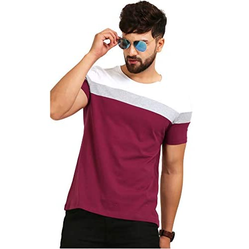 41TW9siraiL. SS500  - AELOMART Men's Regular Fit T-Shirt