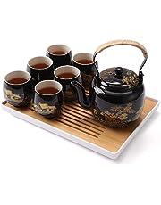 DUJUST Japanese Tea Set with Tea Tray