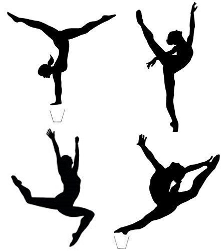 12 X Novelty Gymnast Silhouette Mix Any Colour Edible Standup Wafer Paper Cake Toppers Amazoncouk Grocery