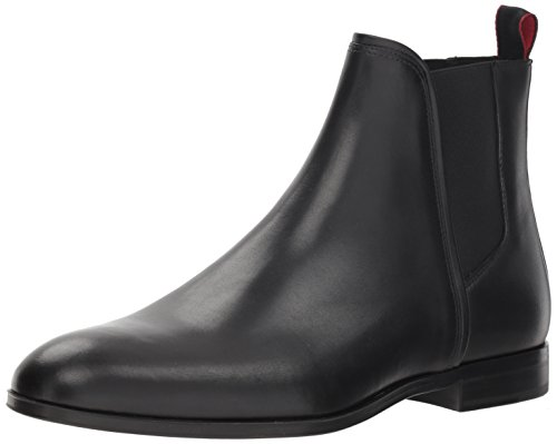 Hugo Boss Hugo Men's Boheme Leather Chelsea Boot, Black, 41 M EU (8 US)