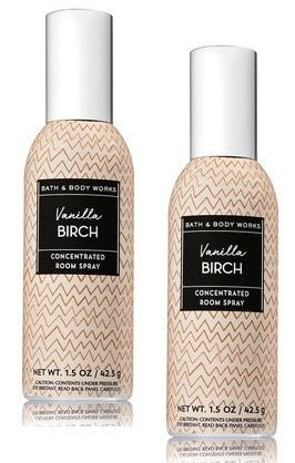 Bath and Body Works 2 Pack Vanilla Birch Concentrated Room Spray. 1.5 - Spray Concentrated Fragrance Home