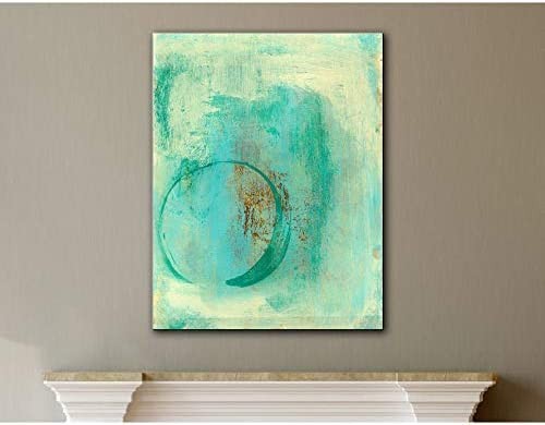 ArtWall Elena Ray Teal Enso Gallery-Wrapped Canvas 8 x 10