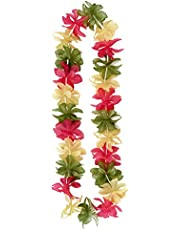 Creative Converting Lei Necklace, Pink, Yellow and Green