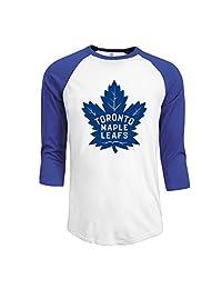 Men's 2016 Toronto Maple Leafs Logo 3/4 Sleeve Raglan T-Shirt