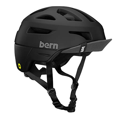 - BERN - Union Helmet, MIPS Matte Black w/Flip Visor, Medium