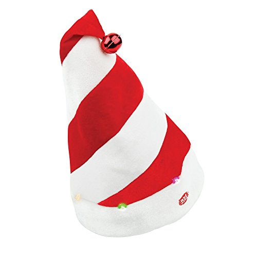 Christmas Shop Singing Christmas Hat (2 Designs) (One Size) (Stripes)