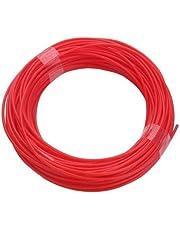 خيط بلاستيك للقلم ثلاثي الابعاد بلون احمر، 1.75 ملم، طول 10 متر