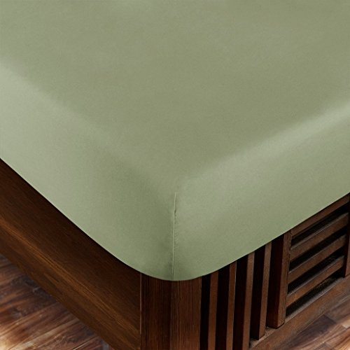 - Zen Home Luxury Fitted Sheet (2-Pack) - 1500 Series Luxury Brushed Microfiber w/ Bamboo Blend Treatment - Eco-friendly, Hypoallergenic and Wrinkle Resistant - King - Olive