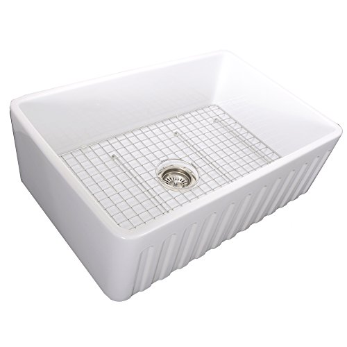 Nantucket-Sinks-33-Inch-Reversible-Fireclay-Farmhouse-Sink-with-Grid