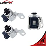 HERCOO A340 AW4 Transmission TCC Lock Up Solenoid + Shift Solenoids Kit Fits for 1986 UP