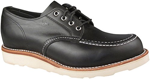 Collezione Originale Chippewa Mens 4 Inch Toe Oxford Black Whirls